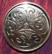 Triple Swirl Pewter Purse Mirror